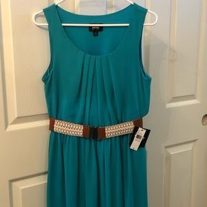 Blue/green Sundress w/belt